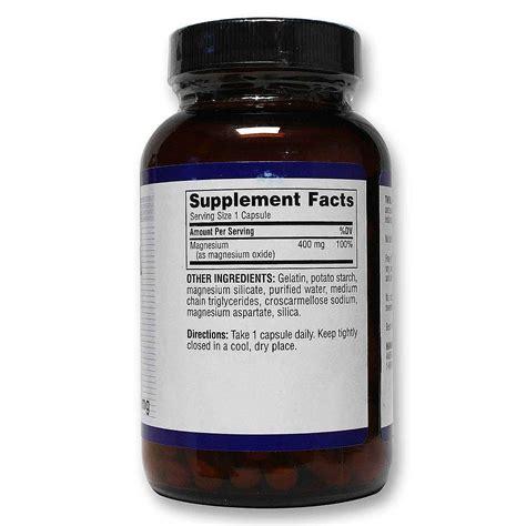 Suplemen Twinlab Twinlab Magnesium 400 Mg 100 Capsules Evitamins