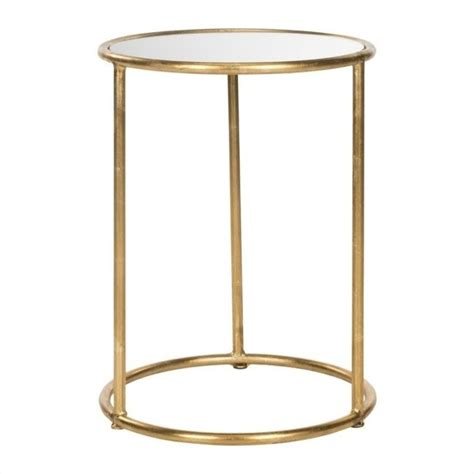 iron accent tables safavieh shay iron and mirror accent table in gold fox2523a