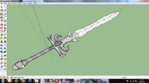 Sketchup Papercraft - 3 4 scale papercraft high swordmaster sword pic heavy