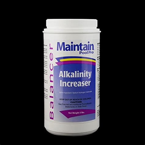 maintain pool pro balancer alkalinity increaser 5 lbs