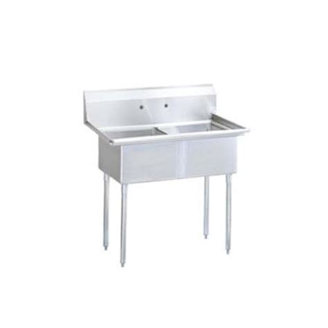 2 compartment prep sink turbo air tsa 2 n 41 3 4 in two compartment prep sink