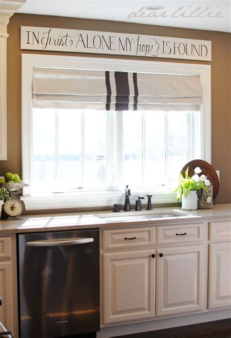 over the sink kitchen window treatments scripture sign above sink think i could put this above