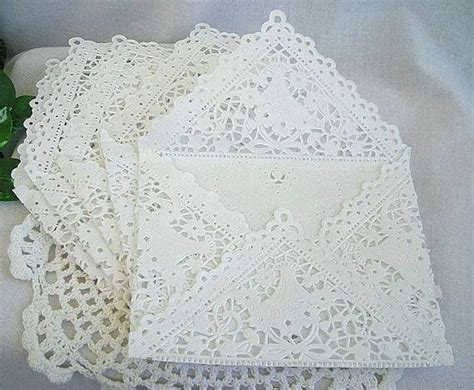 Lace Craft Paper - envelopes white whiter the whitest
