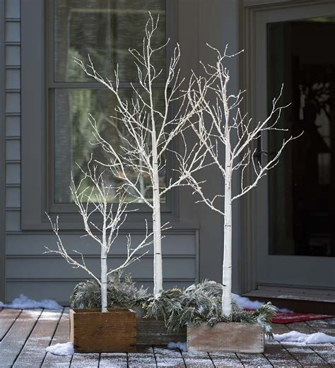 birch tree micro led brown warm white 100cm indoor outdoor birch tree with micro lights create an look with our lighted
