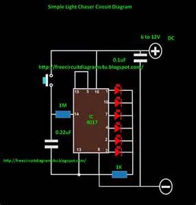 free circuit diagrams 4u led light chaser circuit diagram