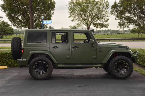 jeep wrangler green spotlight custom matte green jeep wrangler
