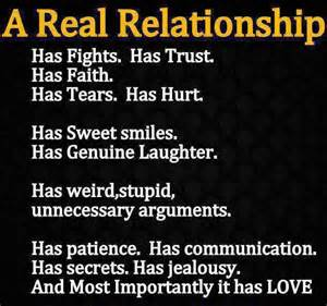 True real relationship will encompass everything with love even