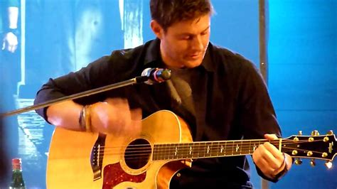 who is the singer playing guitar in the direct tv commercial may 2016 jensen ackles singing quot the weight quot at jus in bello youtube