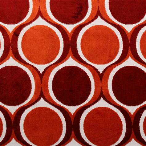 vintage upholstery fabric for sale designer dfs cut velvet large retro vintage circle spots