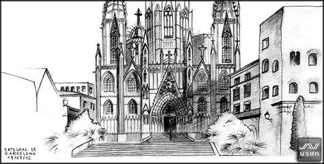 imagenes goticas a lapiz de vuelta con el cuaderno dibujando en barcelona ii