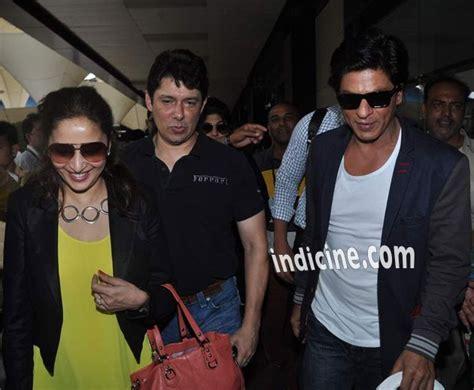 Shahrukh Khan with Madhuri Dixit and Shriram Nene