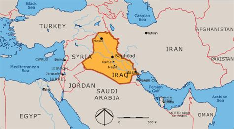 middle east map iraq the war on terrorism