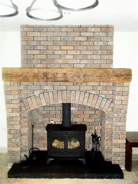Brick Fireplace With Stove by Stove Brick Fireplaces And Fireplace Brick On