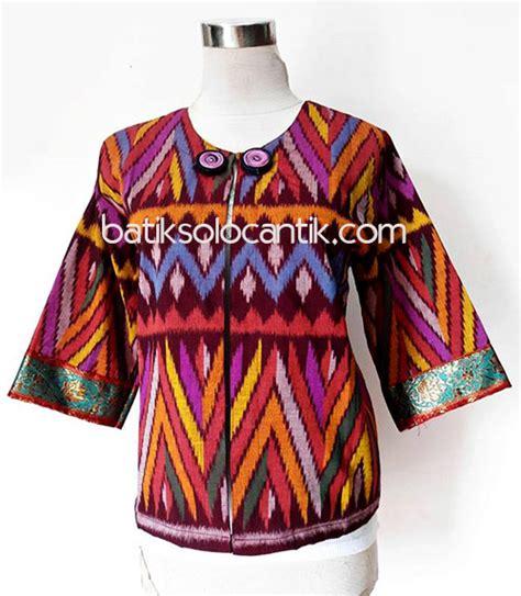 Bolero Modern Katun Bordir Mix Batik Bolero Nalika kain tenun ikat baju kerja batik