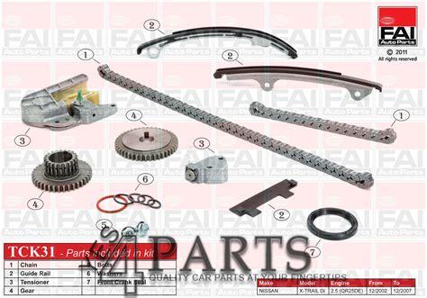 x supplementary info 5 4 0 nissan x trail t30 2 5 4x4 timing chain kit