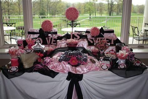 Pink Black Candy Buffet Candy Buffet Ideas Pinterest Pink And Black Buffet