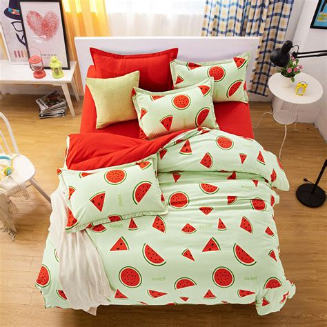 Bed Linens Sale Toronto Sale 4pcs Fruit Watermelon Bedding Set Cotton Bedding