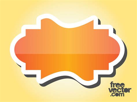 free design sticker online orange sticker design vector art graphics freevector com