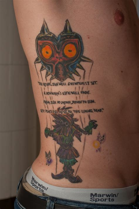 zelda majora s mask tattoo by ncfk on deviantart