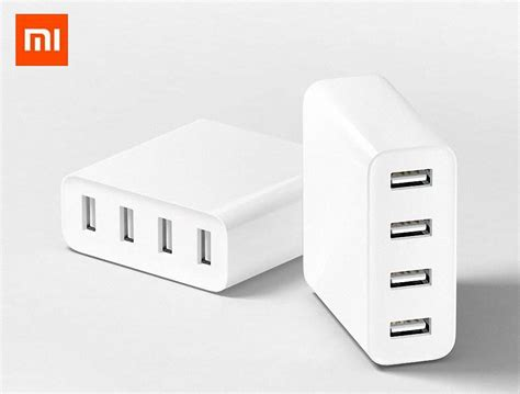 Travel Charger 2in1 Xiaomi original xiaomi usb charger 2 4a mi 4usb port charge for iphone samsung xiaomi travel wall