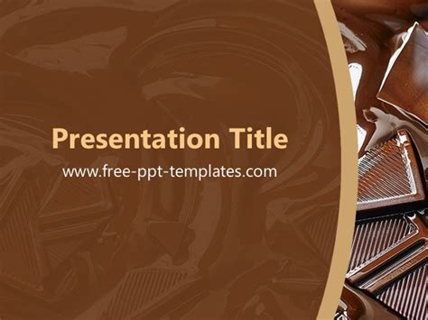 chocolate templates for powerpoint free download chocolate ppt template