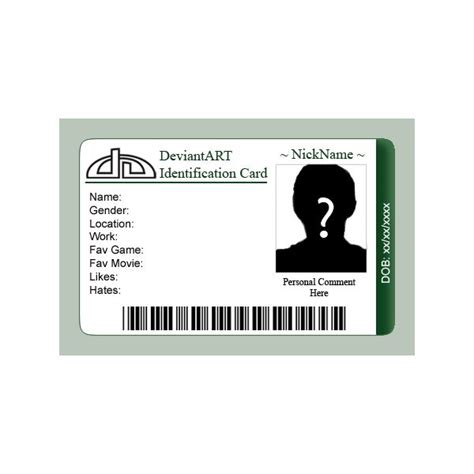 Photoshop Templates For Id Cards | 7 best images of id badges templates printable printable