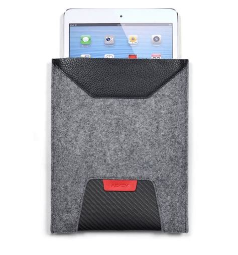 Gtr Sleeve tablet sleeve gtr felt and leather aznom srl