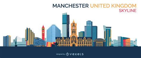 manchester skyline design vector download