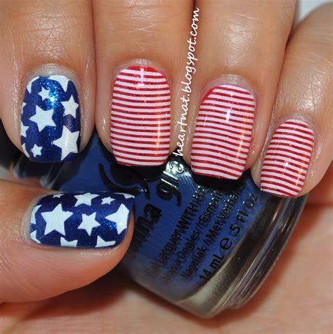 nails design usa heartnat memorial day nails