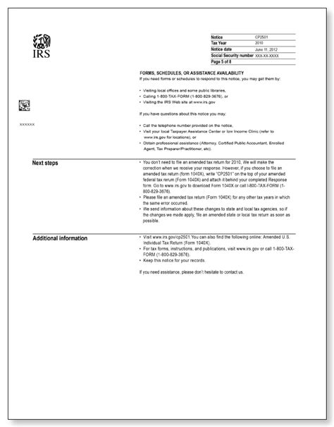 Mortgage Audit Notice Letter Irs Audit Letter Cp2501 Sle 1