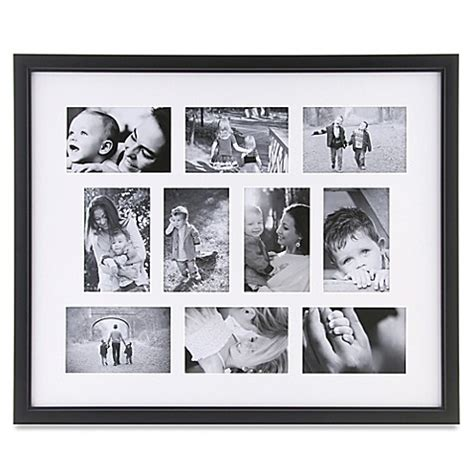10 photo collage frame in black bed bath beyond - Photo Collage And Frames