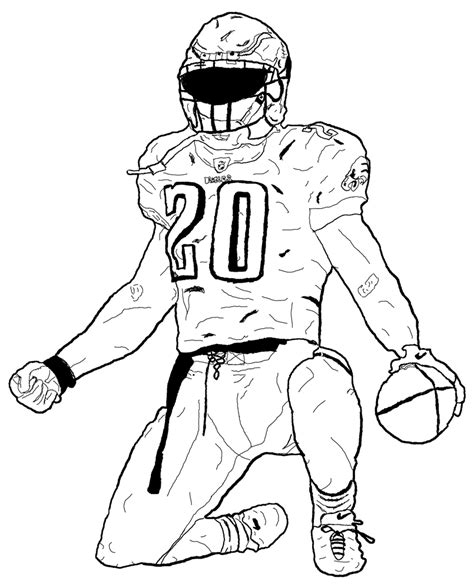 nfl coloring pages nfl players drawn log nfl player pencil and in color drawn log nfl