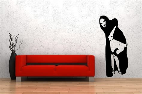 Wall Stiker Uk 60x90 Wall Sticker Sepasang Ranting Daun Hijau mona shows from banksy on your wall it 180 s possible