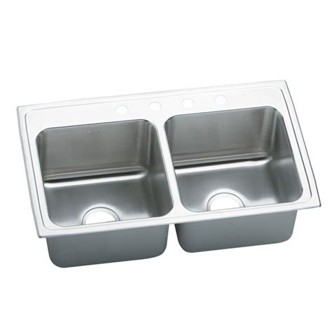 deep kitchen sink elkay dlr3319100 lustertone deep bowl double basin kitchen