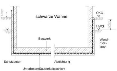 Schwarze Und Weisse Wanne by Grundwasser Und Bauen Abdichtungsma 223 Nahmen Bei Dr 252 Ckendem