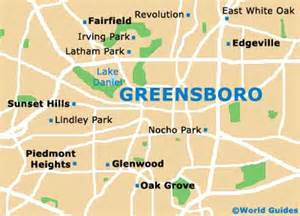 map of greensboro carolina map of greensboro piedmont triad airport gso