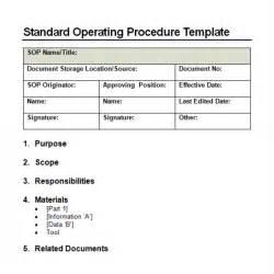 Free Procedure Template 9 Standard Operating Procedure Sop Templates Word