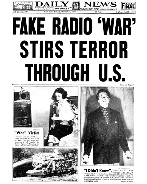 war of the worlds book report radio
