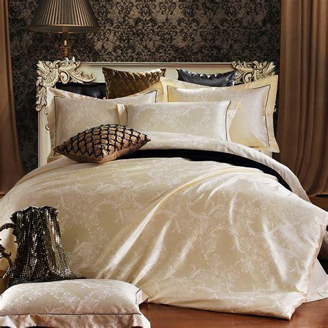 Luxury Bed Sheet Sets Home Textile Bedding Set Jacquard Luxury Cotton Bed Set Bed Cover Sheet 4pcs Set King