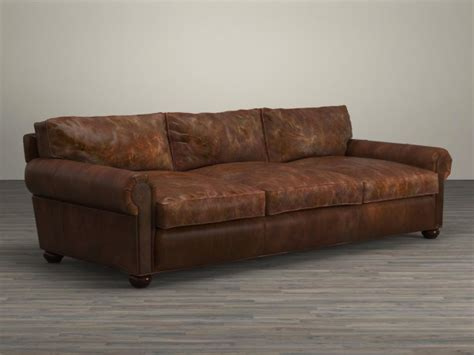 lancaster sofa 96 quot lancaster leather sofa 3d model restoration hardware