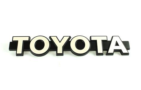 Toyota Symbol Spells Out Toyota Fj60 Emblem Front Grille Oem Fj60