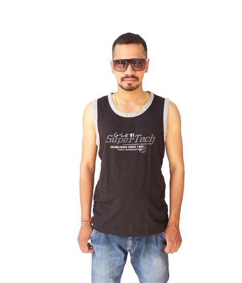 Gio Shirt gio clothing fabulous black cotton printed sleeveless neck t shirt buy gio clothing