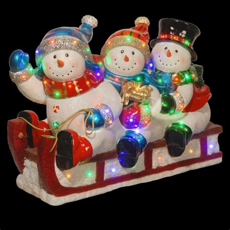 quality resin 29 quot outdoor 3 snowmen snowman christmas sled