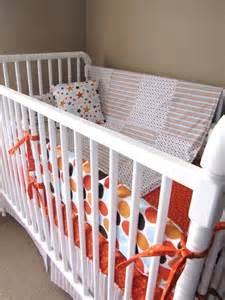 Baby Boy Bedding Sets Orange Baby Boy Bedding In All Orange And Blue By