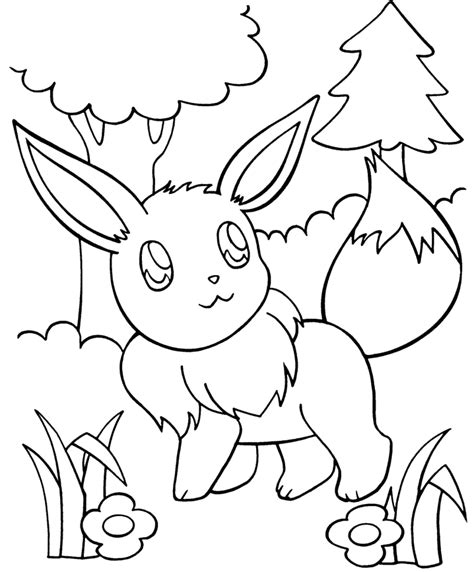 cute pokemon coloring pages eevee cute pokemon coloring pages coloring home
