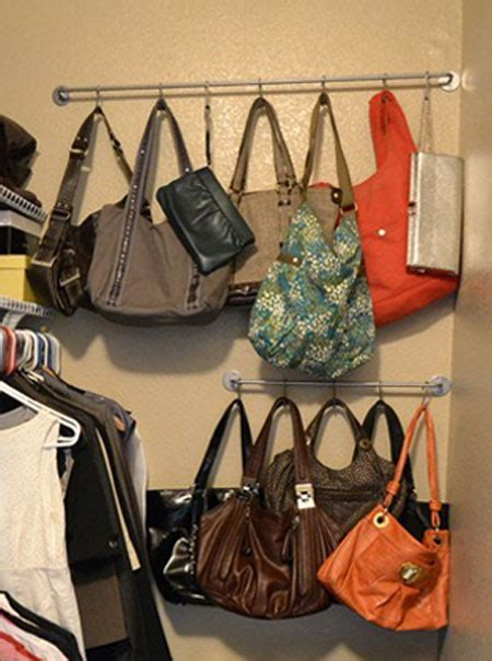 how to organize purses in the closet organize accessories with these 28 clever ideas