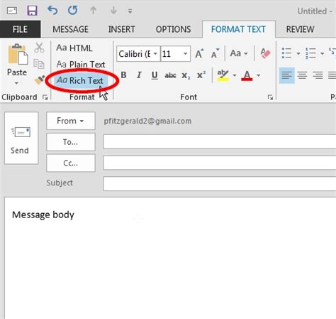 format email text c microsoft office how to change the body font in outlook