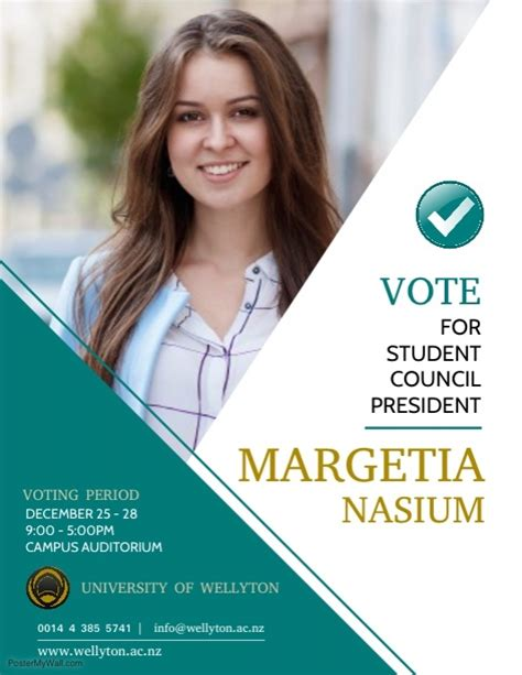 Copy Of President Election Flyer Template Postermywall Election Poster Template