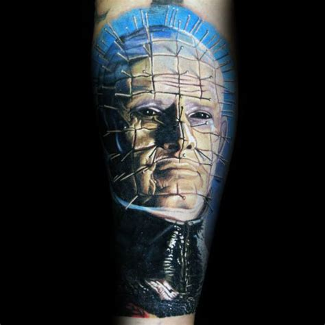 pinhead tattoo designs 50 hellraiser designs for cenobite pinhead