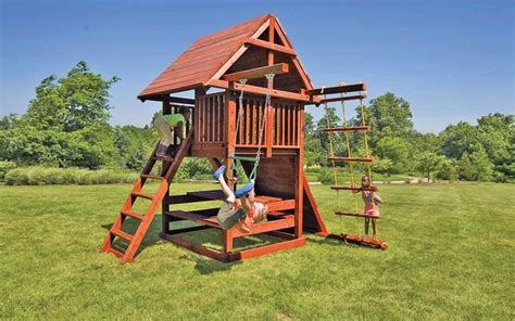 small swing sets for your backyard in the landscape